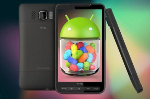 HTC HD2 đã được lên Jelly Bean