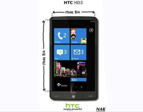 HTC HD3 - siêu phẩm chạy Windows Phone 7
