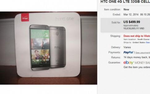 HTC One 2014 chưa ra mắt đã được rao bán giá 500 USD
