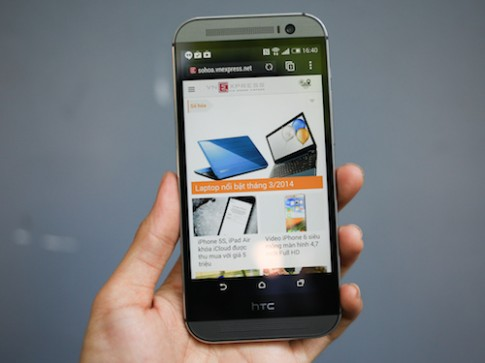 HTC One 2014 đầu tiên về Việt Nam có giá 18 triệu đồng