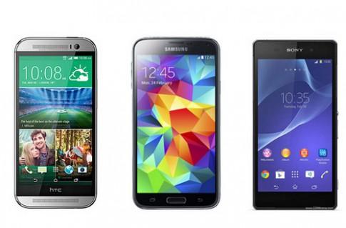 HTC One 2014 đọ thông số với Galaxy S5, Xperia Z2 và iPhone 5S