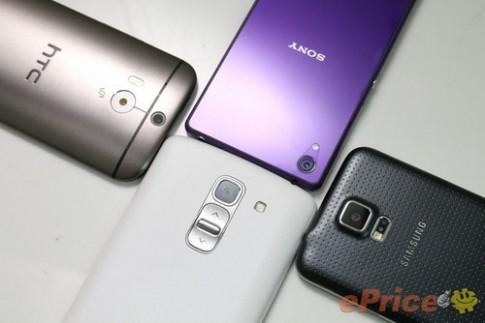 HTC One 2014, Galaxy S5, Xperia Z2 và G Pro 2 đọ camera