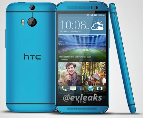 HTC One M8 phiên bản màu xanh xuất hiện