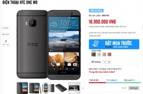 HTC One M9 chính hãng được rao giá gần 17 triệu đồng