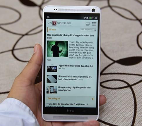 HTC One Max về Việt Nam giá 18 triệu đồng