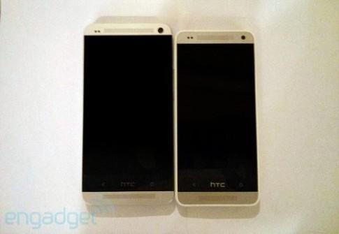 HTC One Mini màu bạc xuất hiện