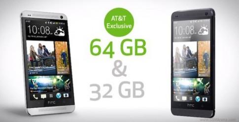 HTC One phien ban 64 GB xuat hien