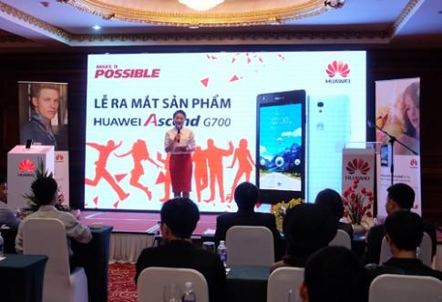 Huawei Ascend G700 ra mắt với giá 5 triệu đồng