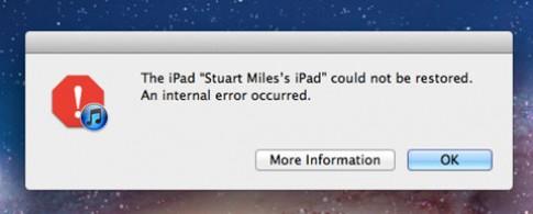 iOS 5 gây lỗi đồng loạt khi nâng cấp