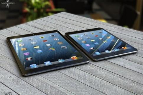 iPad 5 giả tưởng so kích cỡ với iPad 4 và iPad Mini