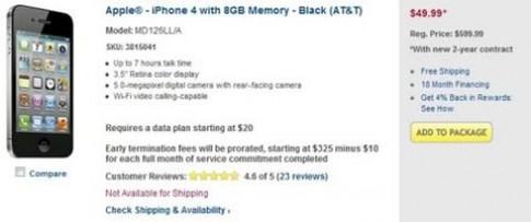 iPhone 4/4S giảm giá hàng loạt tại Mỹ