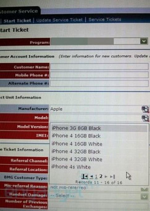 iPhone 4s màu trắng xuất hiện trên hệ thống của AT