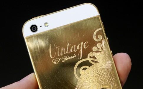 iPhone 5 mạ vàng 24K thủ công ở Việt Nam