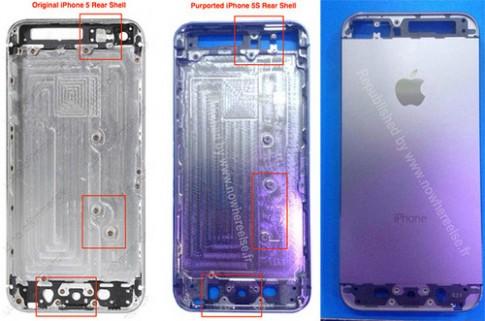iPhone 5S có thiết kế phím Home khác iPhone 5