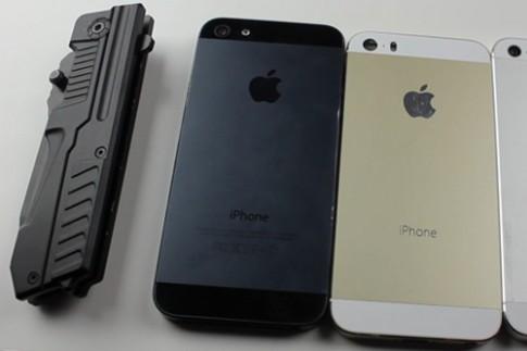 iPhone 5S vỏ vàng 'đọ' khả năng chống xước với iPhone 5