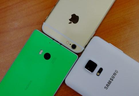 iPhone 6, Galaxy Note 4, Lumia 930 giấu mặt đọ camera