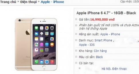 iPhone 6 'xách tay' 16 GB giảm giá hơn 1 triệu đồng