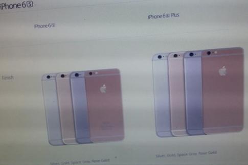 iPhone 6S màu vàng hồng xuất hiện trên website Apple
