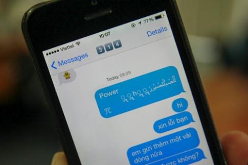 iPhone gặp lỗi khi nhận tin nhắn chứa ký tự lạ