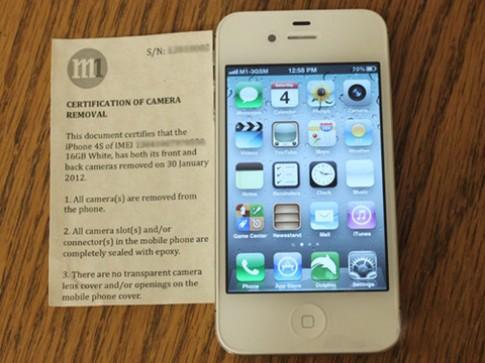 iPhone không camera đã bán tại Singapore