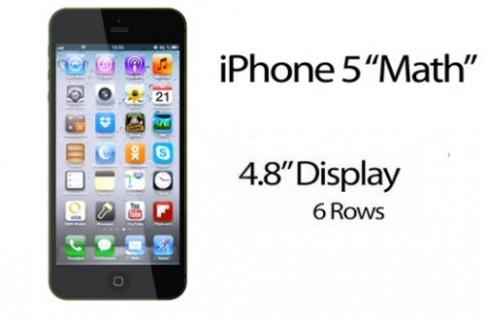 iPhone Math 4,8 inch được dựng bằng đồ họa