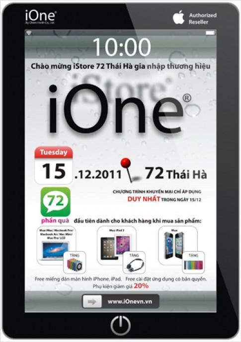 iStore 72 Thái Hà gia nhập hệ thống iOne