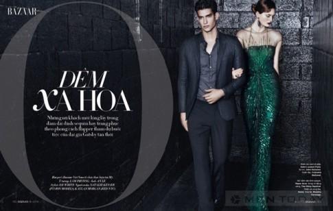 Kaylan Morgan sang trọng trên tạp chí Harper's Bazaar Việt Nam