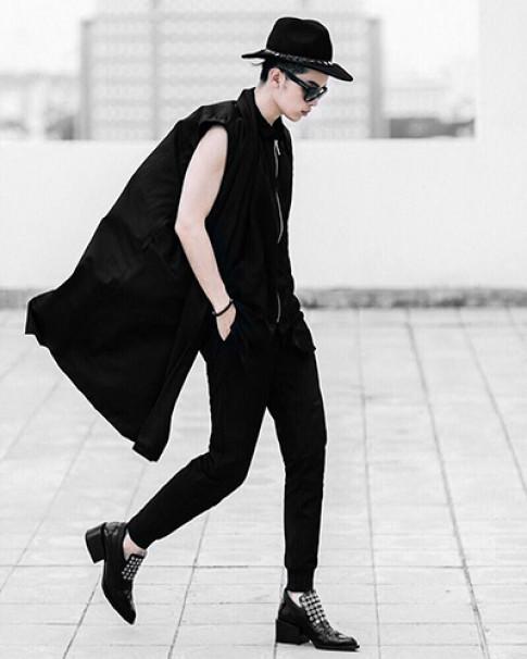 Kelbin Lei khoe gu mặc theo phong cách unisex