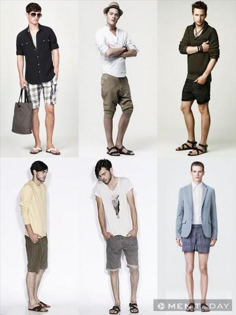 Kết hợp quần short cùng giày và sandal nam