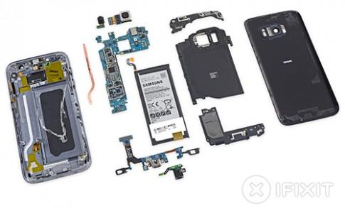 Khó tháo lắp linh kiện trên Galaxy S7