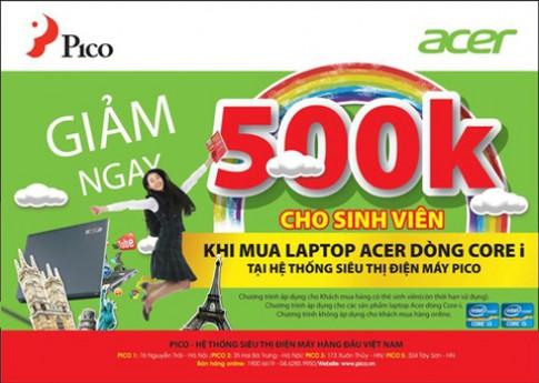Laptop Acer giá 'hot' cho sinh viên tại Pico