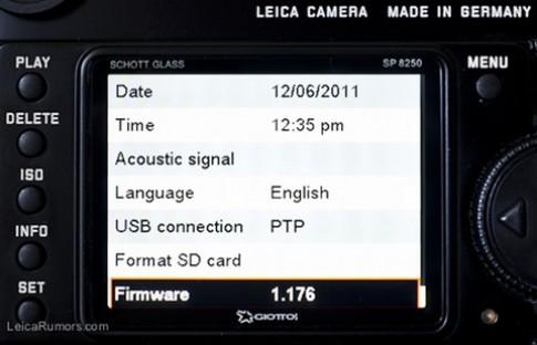 Leica nâng cấp firmware sửa lỗi thẻ SD hoàn chỉnh