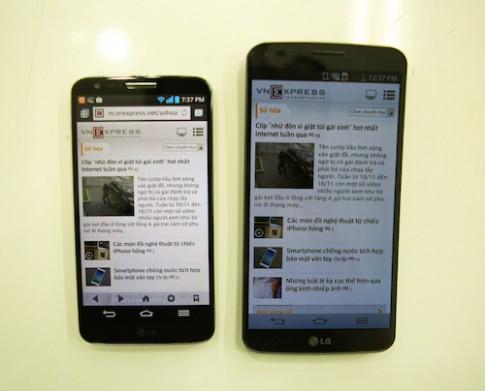 LG G2 đọ dáng cùng G Flex