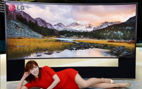 LG giới thiệu TV màn hình cong lên tới 105 inch