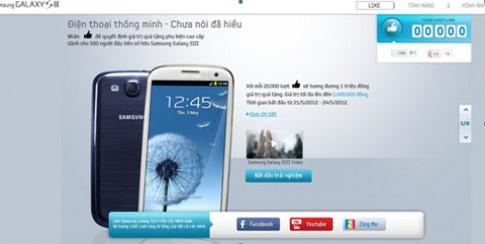 'Like' để nhận phụ kiện cao cấp Galaxy S III