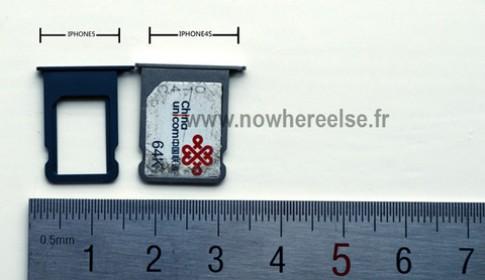 Lộ hình khay nano-SIM của iPhone thế hệ mới