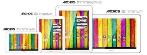 Loạt máy tính bảng Android 4.1 đủ kích thước của Archos