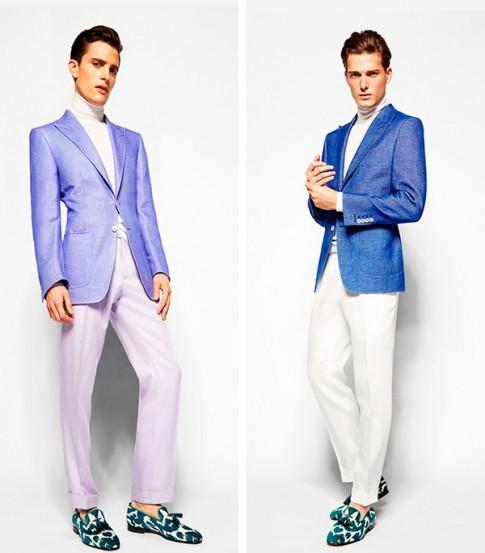 """Lookbook thời trang xuân hè 2014 """"màu mè"""" của Tom Ford"""