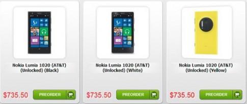 Lumia 1020 41 'chấm' có giá gần 15 triệu đồng ở Mỹ