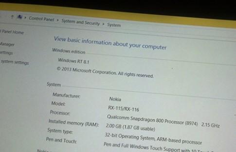 Lumia 2020, máy tính bảng Nokia chưa từng công bố