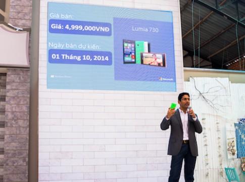 Lumia 730 về Việt Nam giá 5 triệu đồng