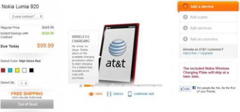 Lumia 920 cháy hàng tại Mỹ