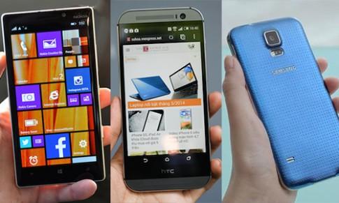 Lumia 930 so cấu hình với Galaxy S5 và HTC One 2014