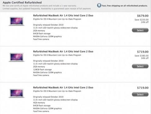 MacBook Air giá từ 679 USD trên Apple Store
