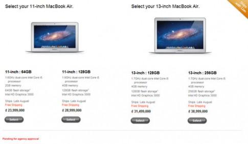 MacBook Air lên Core i, giá từ 24 triệu