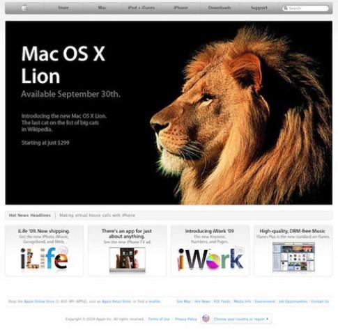 MacBook mua trong tháng 6 được nâng cấp Lion miễn phí