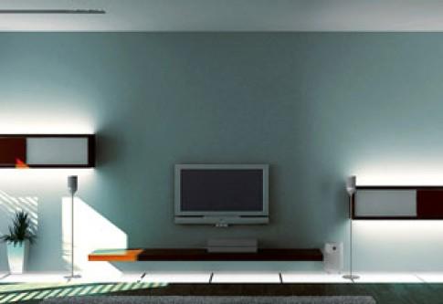 Mảng tường nhấn sau TV