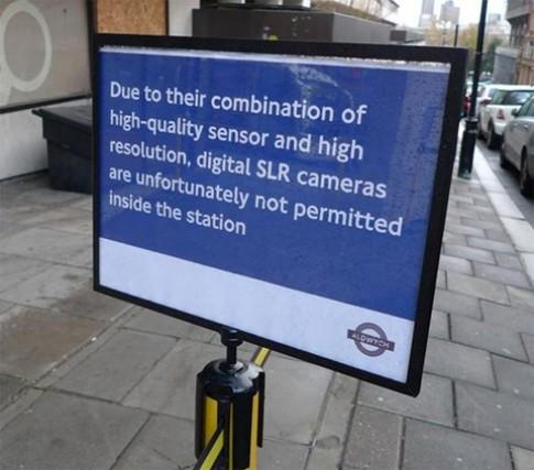 Máy DSLR bị cấm dùng vì 'tội' chụp đẹp
