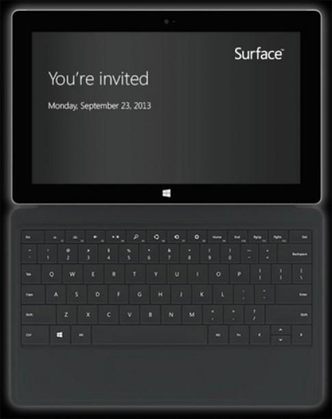 Máy tính bảng Surface thế hệ hai trình làng ngày 23/9