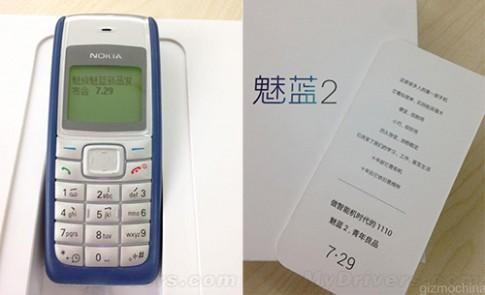 Meizu dùng Nokia 1110 làm thiệp mời